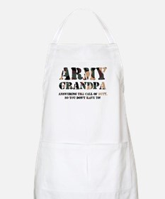 Army Grandpa Answering the Ca BBQ Apron