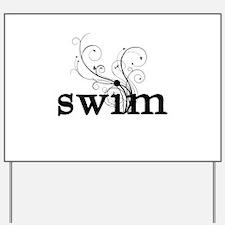 swim Yard Sign