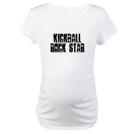 Kickball Rock Star Maternity T-Shirt
