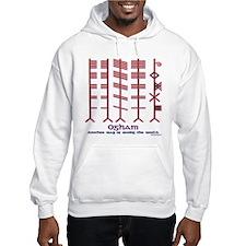 "The Ogham ""alphabet"" Hoodie"