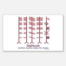 "The Ogham ""alphabet"" Rectangle Decal"