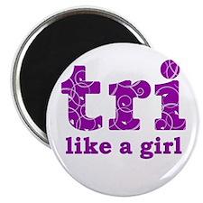 "tri like a girl 2.25"" Magnet (10 pack)"