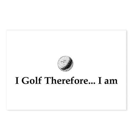 I Golf Therefore I am. Postcards (Package of 8)