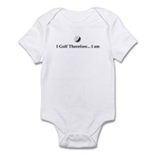 I Golf Therefore I am. Infant Bodysuit