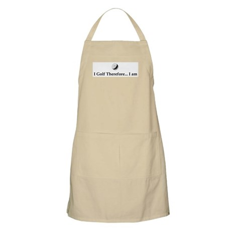 I Golf Therefore I am. Apron