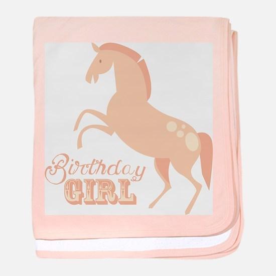 Birthday Girl Pony baby blanket