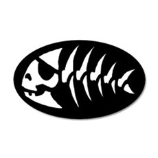 Pirate Fish 20x12 Oval Wall Peel