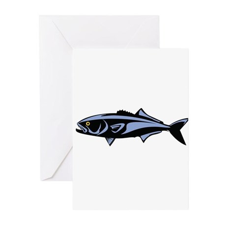 Graphic Blue Fish Greeting Cards (Pk of 10)