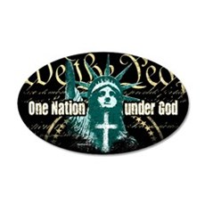One Nation Under God 20x12 Oval Wall Peel