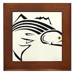 Striper Graphic Framed Tile