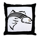 Striper Graphic Throw Pillow