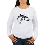 Striper Graphic Women's Long Sleeve T-Shirt