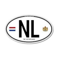 Netherlands Intl Oval 20x12 Oval Wall Peel