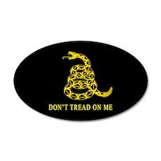 Don't Tread on Me 20x12 Oval Wall Peel