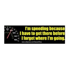 I'm Speeding 36x11 Wall Peel