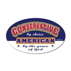Conservative American 20x12 Oval Wall Peel
