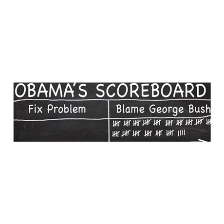 Obama Scoreboard 36x11 Wall Peel