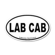 Lab Cab 20x12 Oval Wall Peel