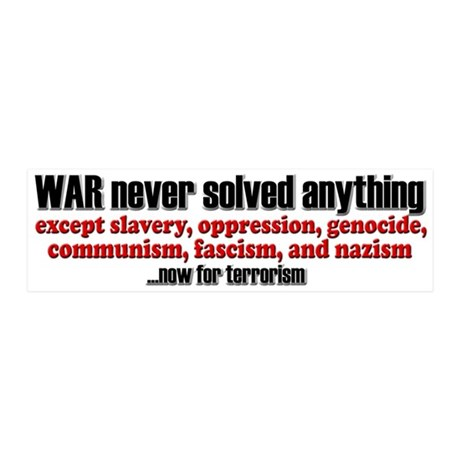 WAR... now for terrorism - 20x6 Wall Peel