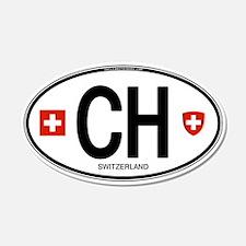 Switzerland Euro Oval 20x12 Oval Wall Peel