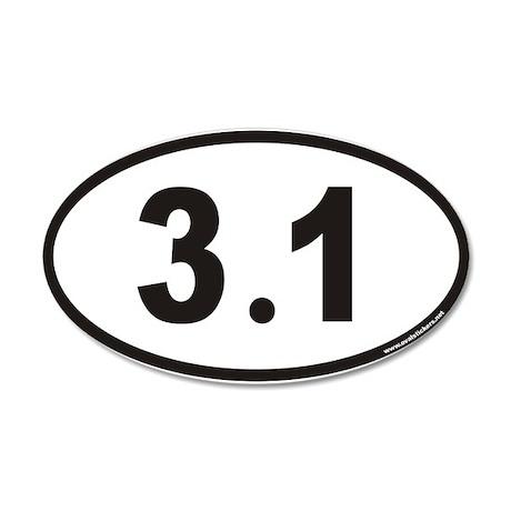 3.1 Euro 35x21 Oval Wall Peel