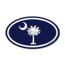 South Carolina Flag 20x12 Oval Wall Peel with Palm