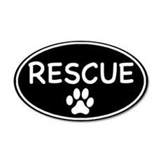 Rescue Black Oval 20x12 Oval Wall Peel