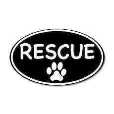 Rescue Black Oval 35x21 Oval Wall Peel