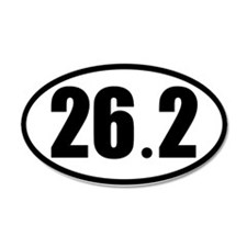 26.2 Oval Car Sticker for Marathon Enthusiasts