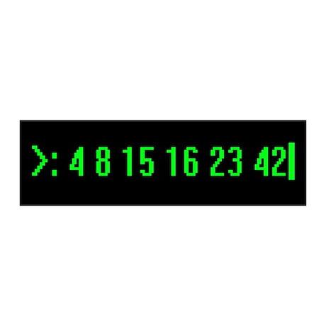 Numbers 36x11 Wall Peel
