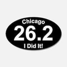 Chicago Marathon 20x12 Oval Wall Peel