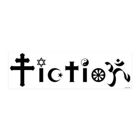 Religion is Fiction 20x6 Wall Peel