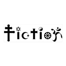 Religion is Fiction 36x11 Wall Peel