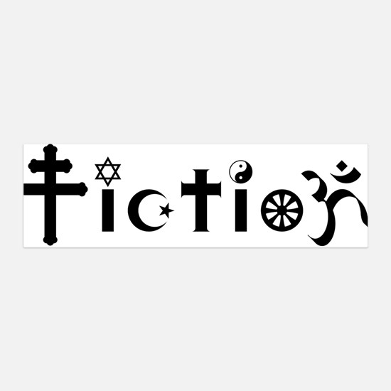 Religion is Fiction 36x11 Wall Peel