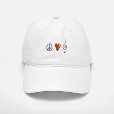 peace, love ,music D Baseball Baseball Cap