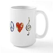 peace, love ,music D Mug