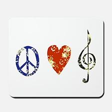 peace, love ,music D Mousepad