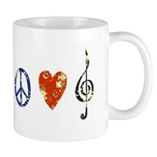 peace, love ,music D Mug
