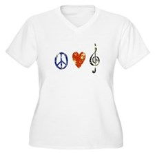 peace, love ,music D T-Shirt