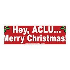 ACLU Christmas 36x11 Wall Peel