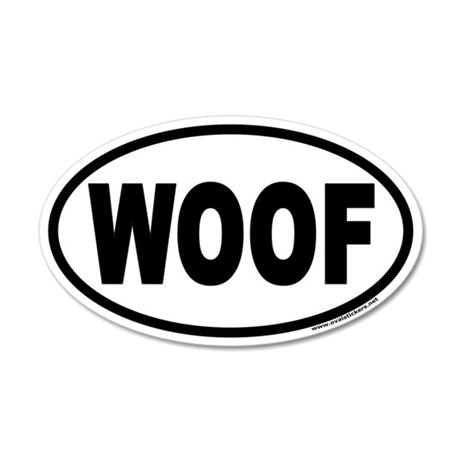 WOOF Euro 35x21 Oval Wall Peel for Dog Lovers