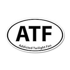 Addicted Twilight Fan Stickers 20x12 Oval Wall Pee