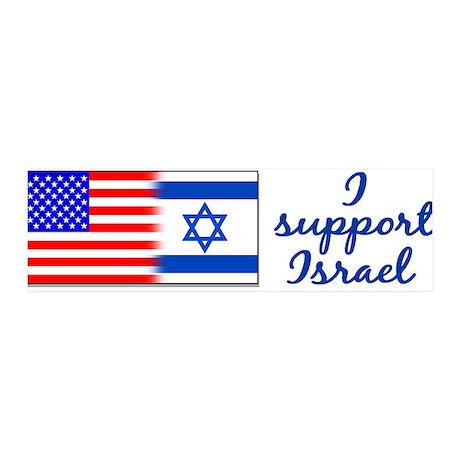 I Support Israel 36x11 Wall Peel