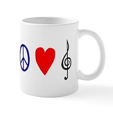 Peace,Luv ,Music Mug