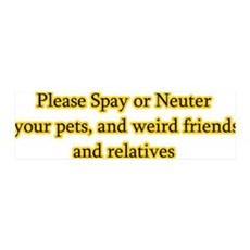 please spay or neuter 36x11 Wall Peel
