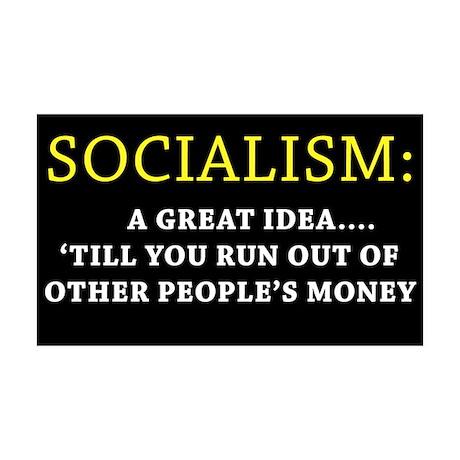 Anti-Socialism 35x21 Wall Peel