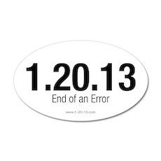 End of an Error White Sticker