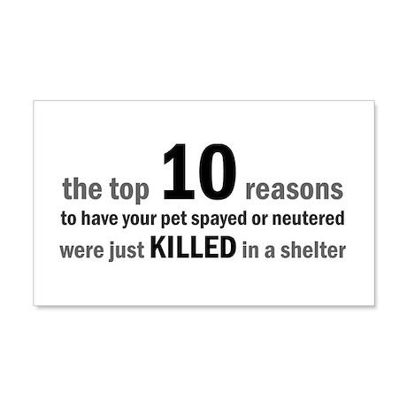 10 Reasons to Spay/Neuter 20x12 Wall Peel