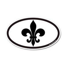 Fleur De Lis Euro 20x12 Oval Wall Peel for New Orl