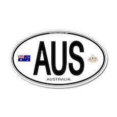 Australia Euro Oval 20x12 Oval Wall Peel